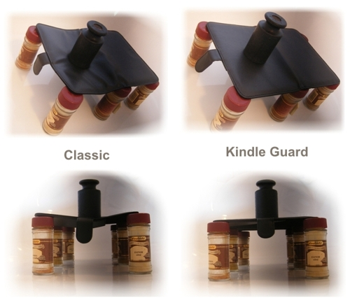 Porovnanie klasického púzdra a Kindle Guard